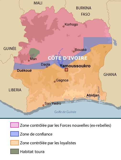 map of ivory coast in africa. map of ivory coast africa.